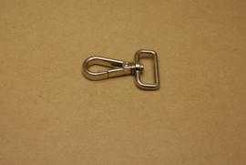 Musqueton nikkel, bandbreedte 25 mm **Nieuw**