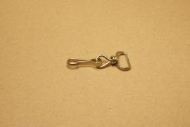 Musqueton nikkel, bandbreedte 15mm