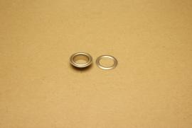 Zeilring nikkel 15mm (10)
