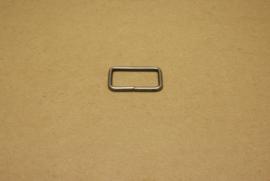Ring rechthoek ongelast 30mm oud nikkel