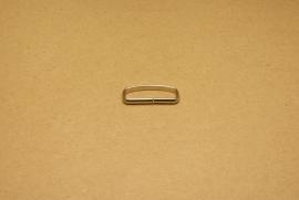 Passant ongelast 30mm nikkel