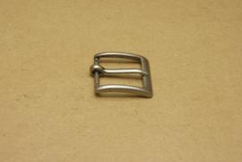 Gesp oud nikkel 25 mm