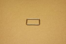 Ring rechthoek ongelast 30mm nikkel