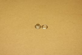 Zeilring nikkel 7mm (100)