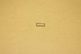Passant ongelast 16mm nikkel