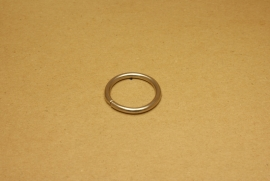 Ring ongelast nikkel 30 mm