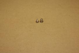 Geweerknop klein nikkel