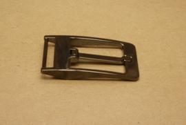 Gesp gun metal 30 mm **Nieuw**