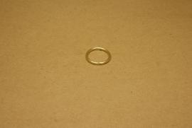 Ring ongelast goud 20 mm
