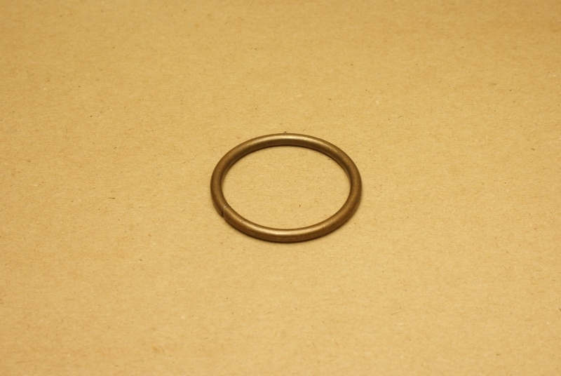 Ring ongelast oud goud 40 mm