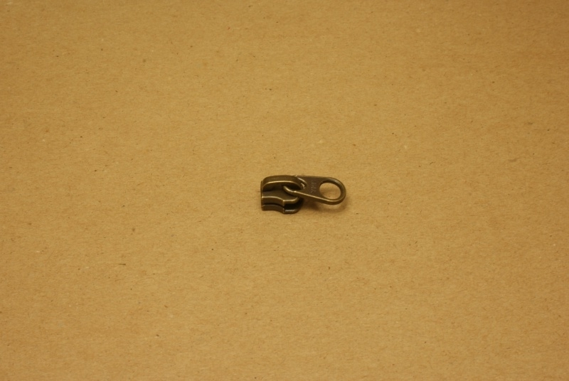 Trekker YKK oud goud voor rits 5mm