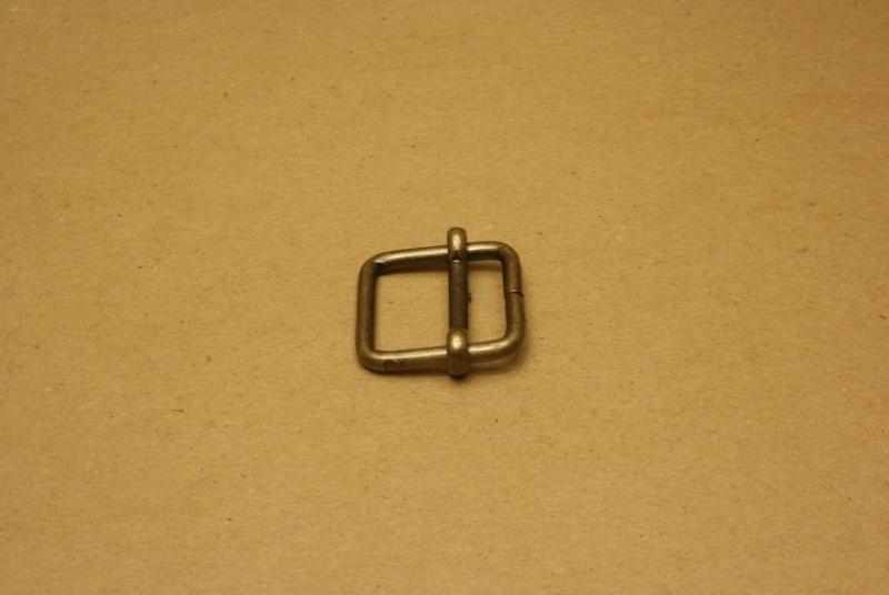 Schuifgesp oud goud 25 mm