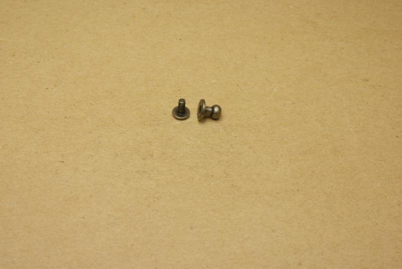 Geweerknop klein oud nikkel