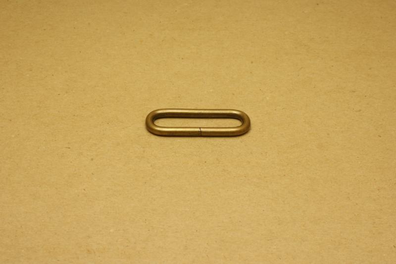 Ring ovaal ongelast 30mm oud goud