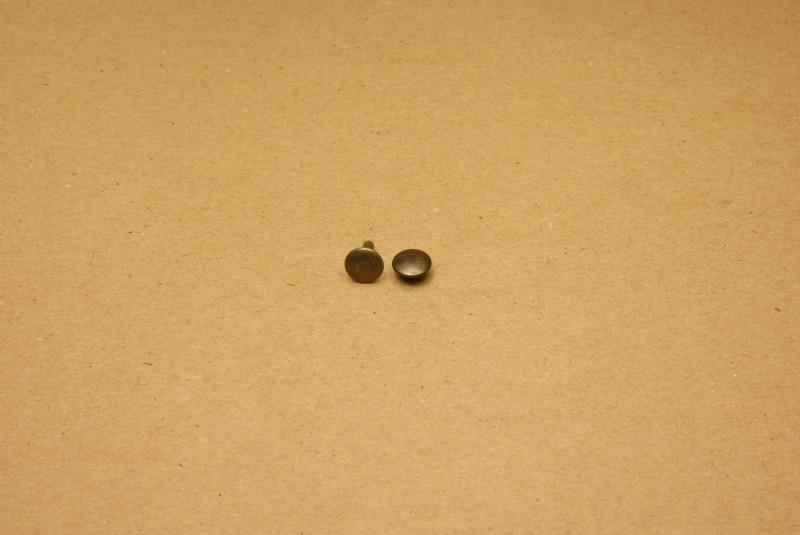 Holnieten dubbele kop oud goud 34/10 (100)