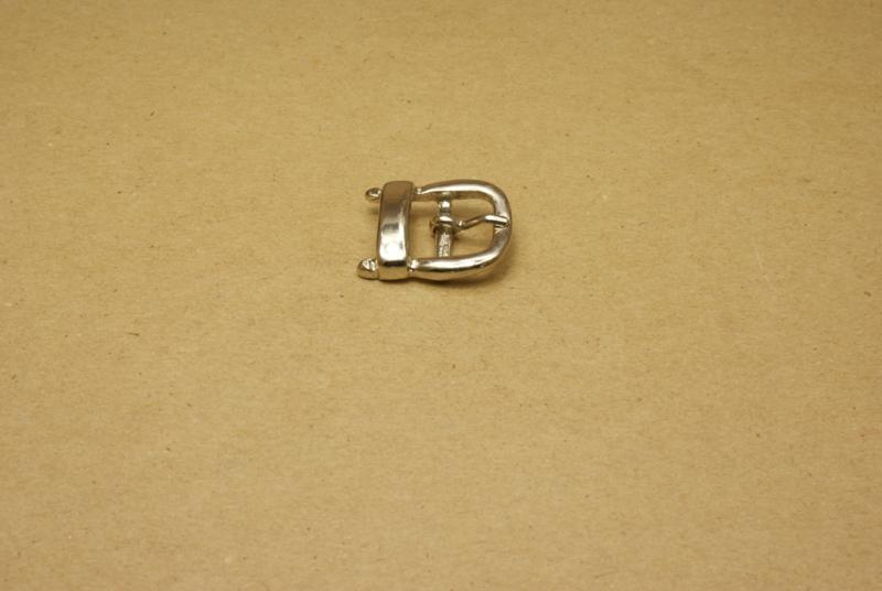 Gesp nikkel 15 mm