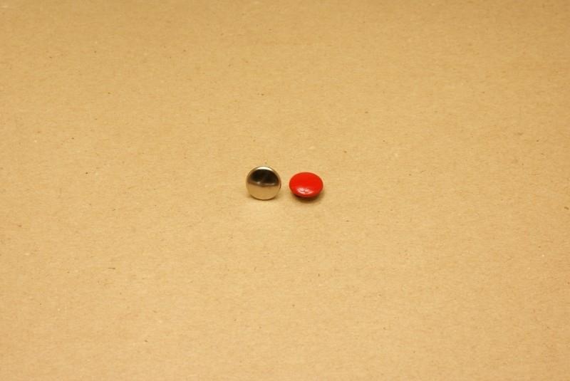 Holnieten dubbele kop rood 36/10 (100)