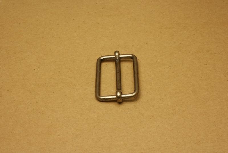 Schuifgesp oud nikkel 40 mm