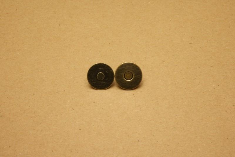 Magneetslot dun oud goud 19mm