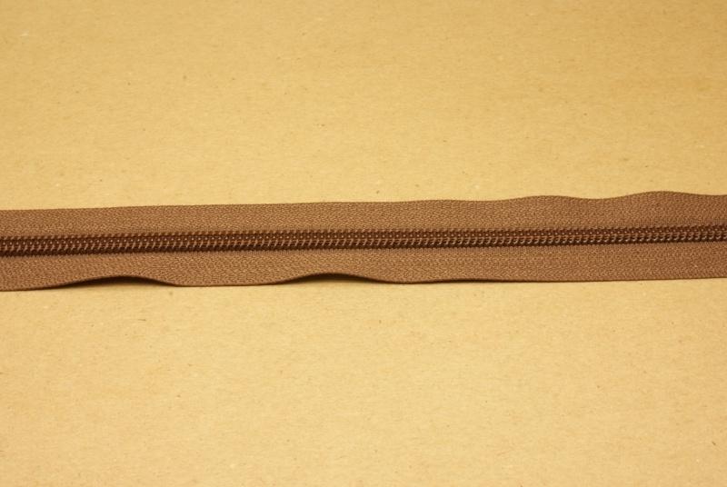 Rits YKK 5mm bruin
