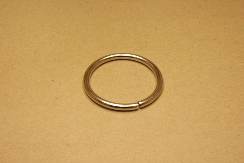 Ring ongelast nikkel 50 mm