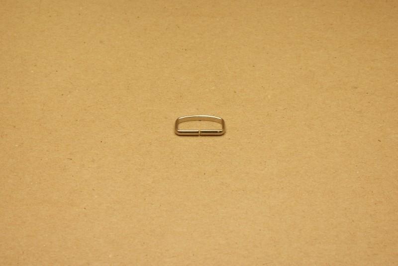 Passant ongelast 20mm nikkel