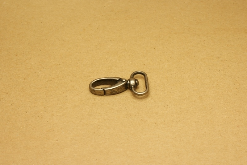 Musqueton oud nikkel, bandbreedte 20 mm