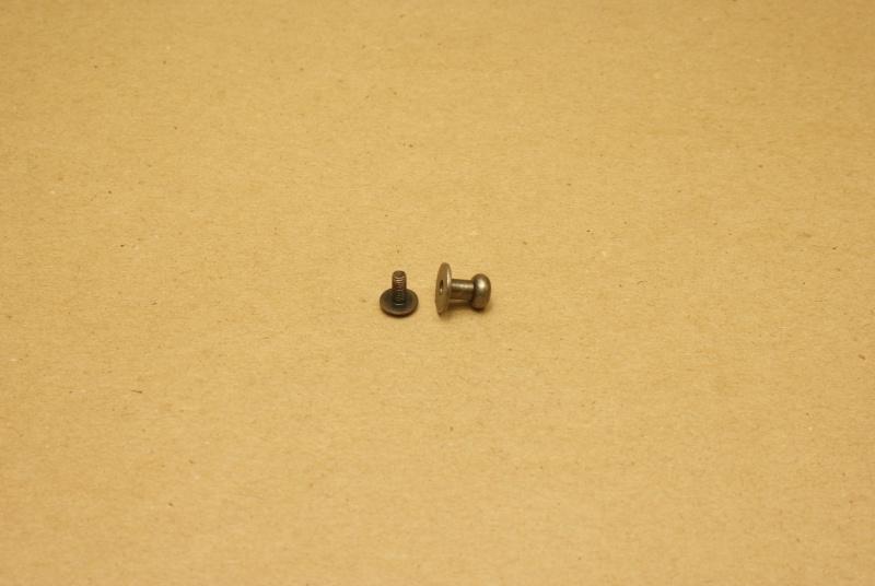 Geweerknop oud nikkel