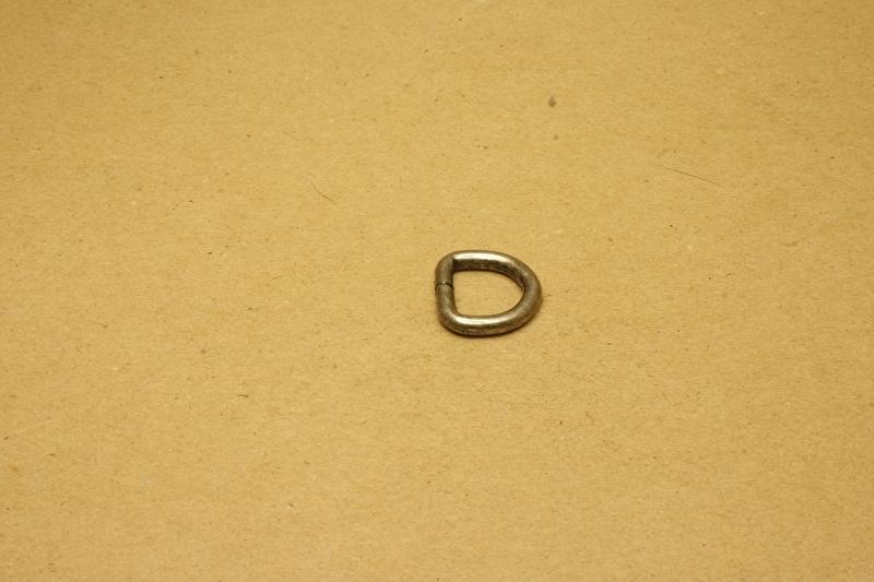 D-ring ongelast oud nikkel 15mm