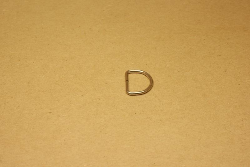 D-ring ongelast nikkel 20mm