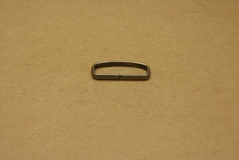 Passant ongelast 30mm oud nikkel