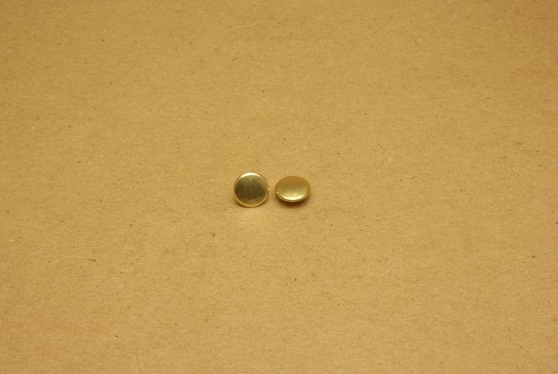 Holnieten dubbele kop goud 36/10 (100)