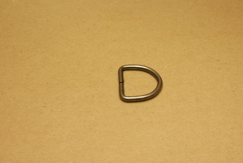 D-ring ongelast oud nikkel 30mm
