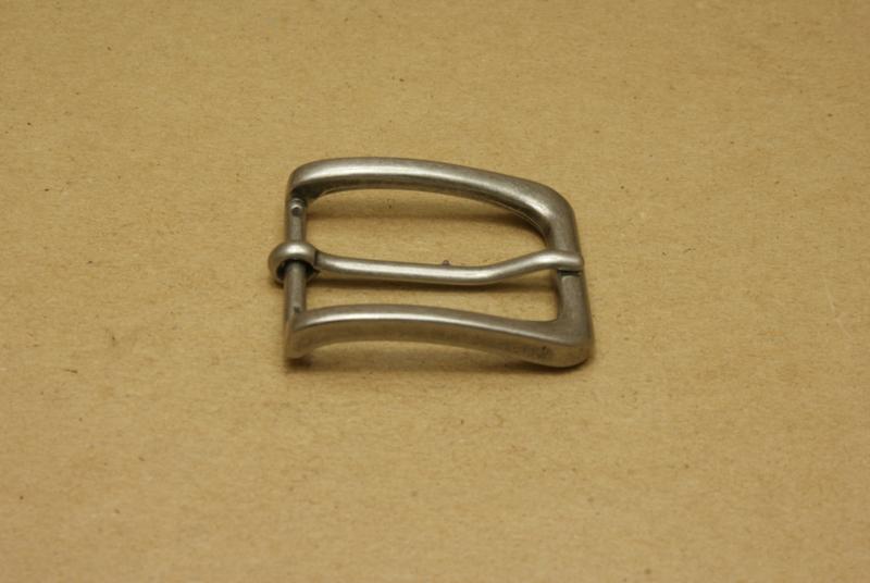 Gesp oud nikkel 30 mm