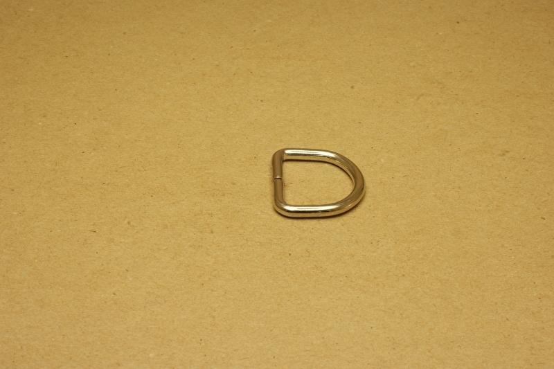 D-ring ongelast nikkel 25mm