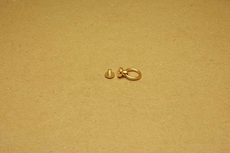 Geweerknop met ring goud