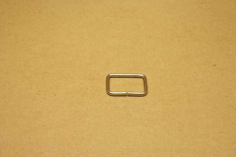 Ring rechthoek ongelast 25mm nikkel