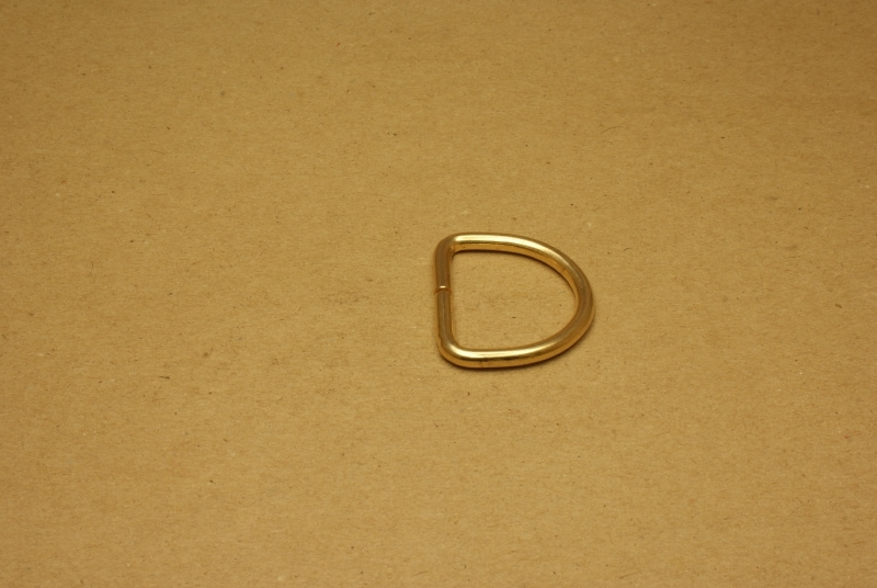 D-ring ongelast goud 30mm