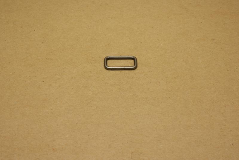 Ring rechthoek ongelast 20mm oud nikkel