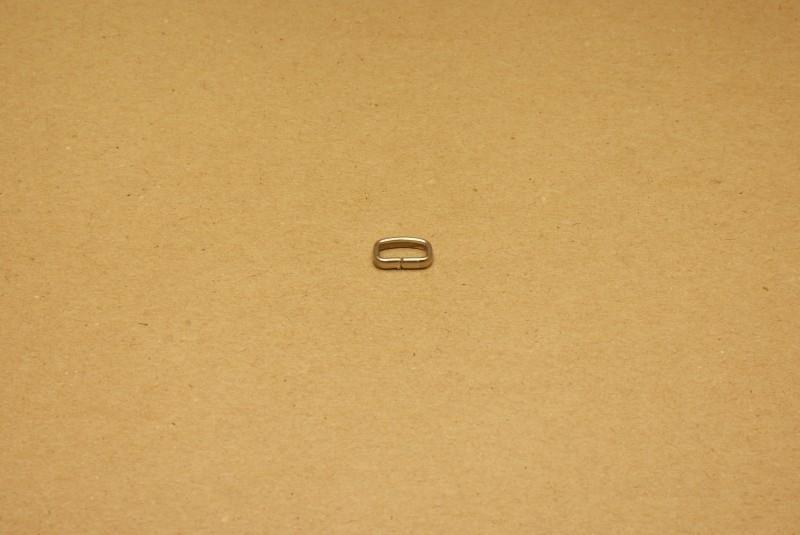 Passant ongelast 10mm nikkel