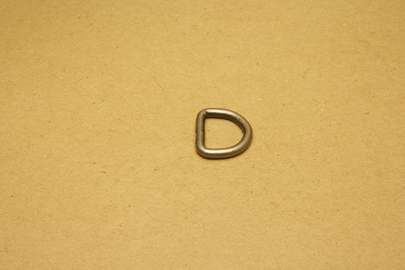 D-ring ongelast oud nikkel 20mm