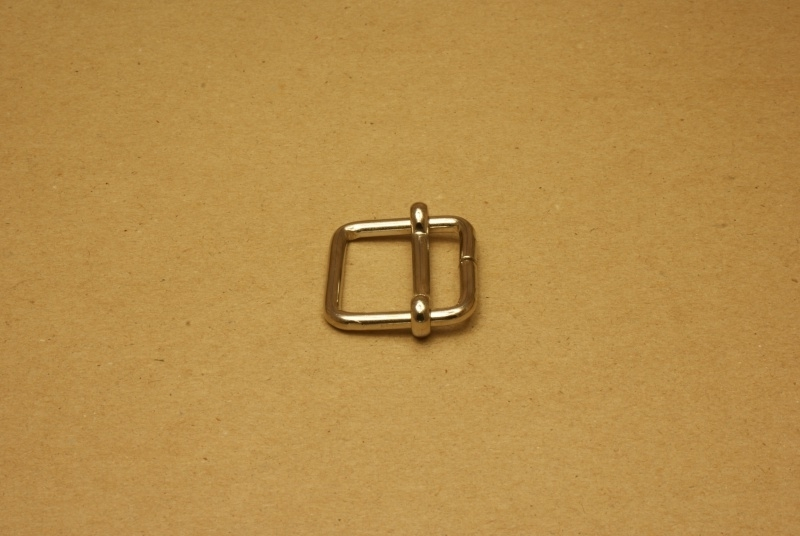 Schuifgesp nikkel 25 mm