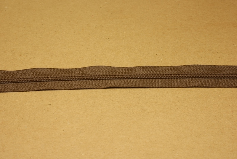Rits YKK 3mm bruin