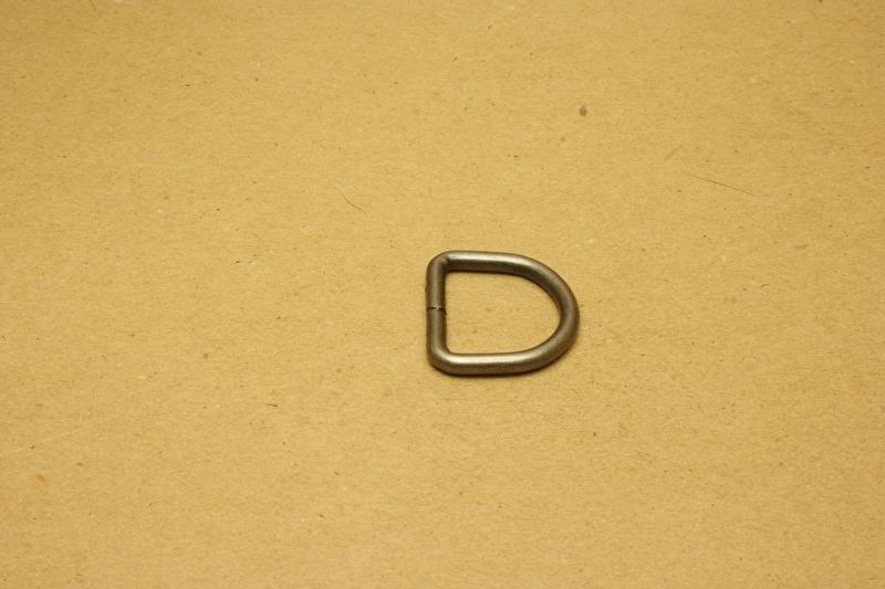 D-ring ongelast oud nikkel 25mm