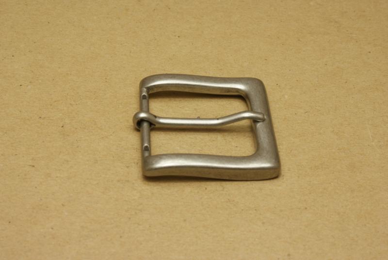 Gesp oud nikkel 35 mm