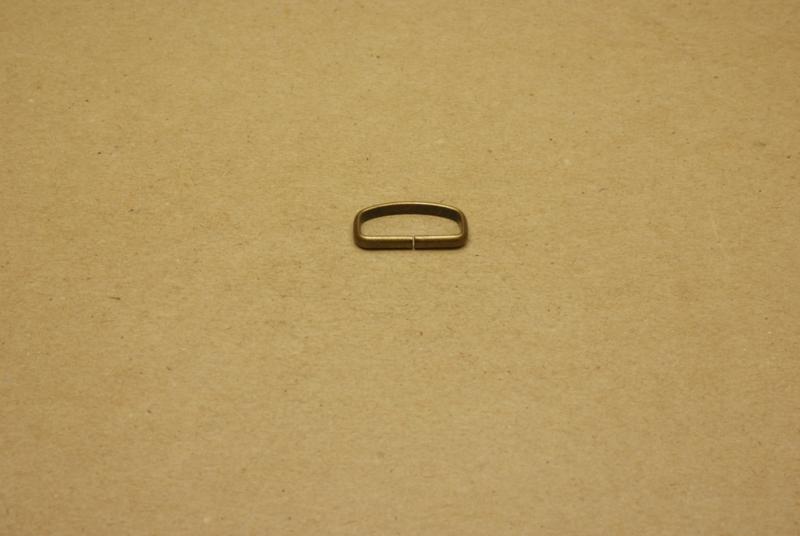 Passant ongelast 20mm oud goud