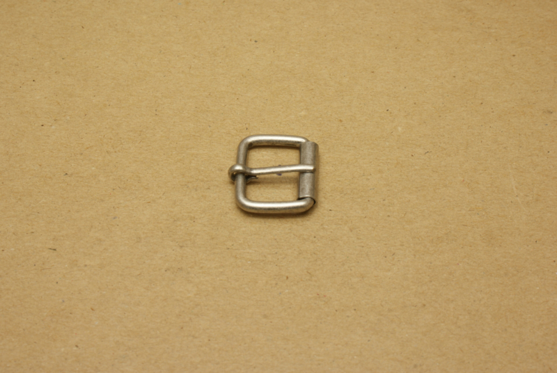 Rolgesp oud nikkel 20 mm