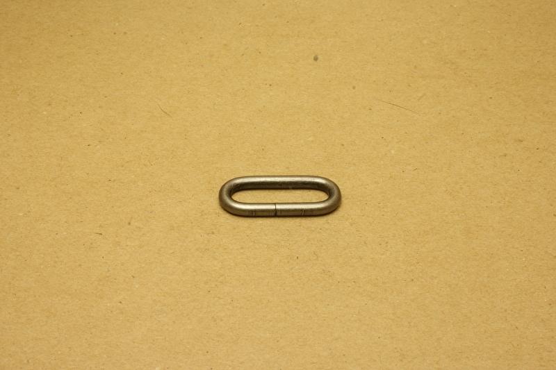 Ring ovaal ongelast 30mm oud nikkel