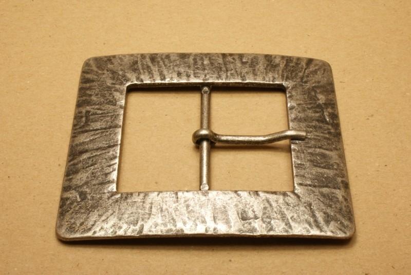 Gesp oud nikkel 50 mm