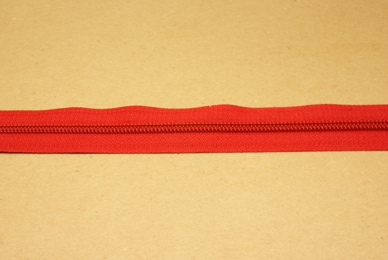 Rits YKK 5mm rood